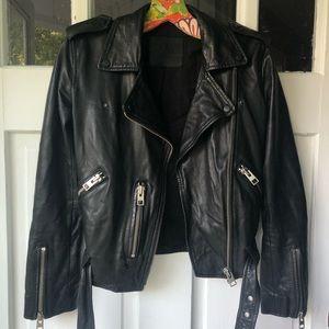 AllSaints Leather Moto Jacket, size 2